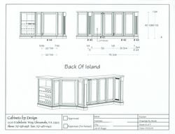 Island Back Elevation & 3D