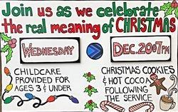 Christmas Service Sign