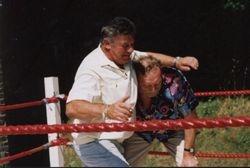 Pat Roach and Wayne Bridges having fun
