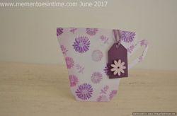 Floral Purple Teacup