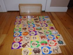 Melissa & Doug Self Correcting Letters Puzzle - $10