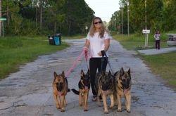 Linda with Athena, Hera, Apollo and Thor