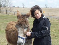 Marlene and Stuart the donkey