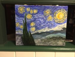 Starry Night on an art box