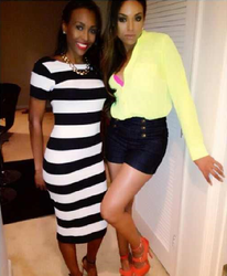 Aaliyah & Demetria McKinney Heading Out To Porsha Stewart's Birthday Bash @ Prive on June 29, 2013