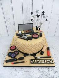 16th birthday make up cake