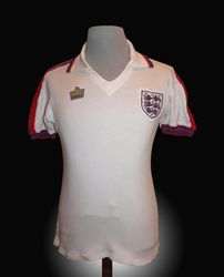 Admiral Match Worn 1978 England Shirt by Ray Wilkins