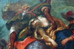 Delacroix, Abduction of Rebecca, detail, Met