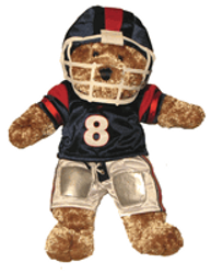 Bear in football uniform - display only