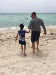 Beach fun with Dad