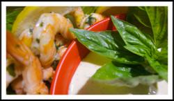 Lemon Basil Shrimp with Louise Sauce
