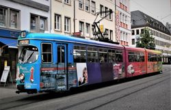 Duewag tram #245 on Augustinerstrasse