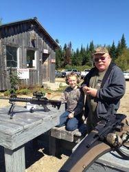 Steve teaching 10 year old Pete to shoot .22