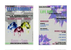 'Electronaut' clubnight flyer design