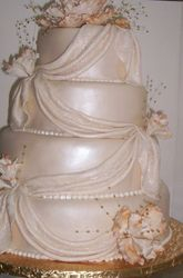 Ivory Peony Cake