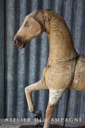 SOLD #24/109 FRENCH HORSE WOOD/BURLAP DETAIL SOLD