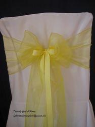 Yellow thin with ribbon.