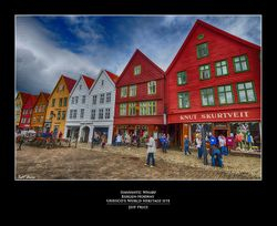 Hanseatic Wharf Bergen-Norway  UNESCO's World Heritage site