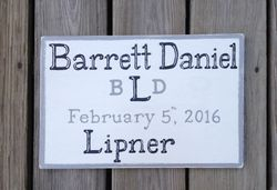 Birth Announcement sign