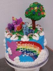 Pony Rainbow Garden Cake