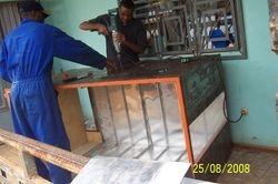 Dryer under construction