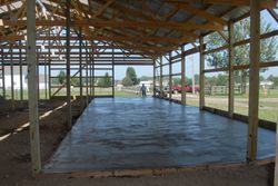 Pouring Cement for tack room and work shop