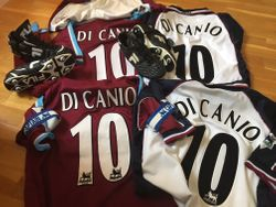Paolo Di Canio Worn shirts, shorts, socks, boots and captains armbands.