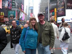 Mike and Becky Time Square