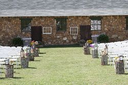 Complete outdoor setting for the wedding