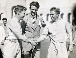 Charley with friends at the LA Coliseum (1926)