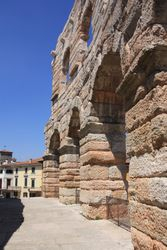 Outer ring of Roman Arena in Verona