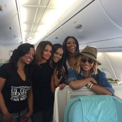 Kandi Burruss, Claudia Jordan, Demetria McKinney, Kenya Moore and Cynthia Bailey All Aboard: Cast Trip - Real Housewives Of Atlanta