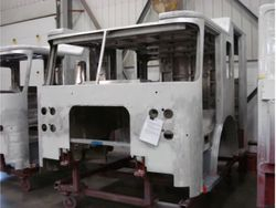 Primer applied to cab