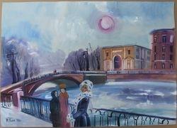 Time-Blok Marina Georgievna akvarele. 1968 m. Kaina 227
