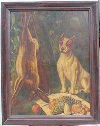 1879 m. didelis paveikslas Medziokle. Kaina 177