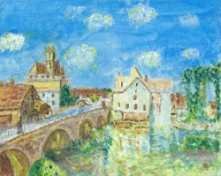 Interpretation of The Bridge at Moret 1893
