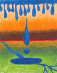 Soothing Landscape, Oil Pastel, 11x14, Original Sold