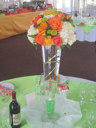 Table Centerpiece - Tall pilsner vase