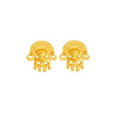 Topos pequenos de tunjo - Precolumbian tunjo small sized studd earrings