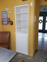 Paint Grade Storage Built Into Closet 1
