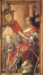 Joos van Ghent, Federico de Montefeltro and His Son, 1477