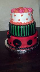 Ladybug-Inspired Photo Shoot Cake