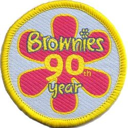2004 Brownie Anniversary Cloth Badge