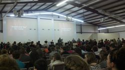 Picture of congregation during preaching.
