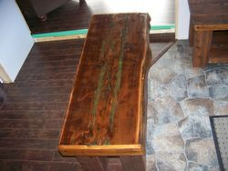 set of two Cedar benches