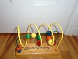 Anatex Wood Mini Curves N' Waves RollerCoaster Bead Maze - $10