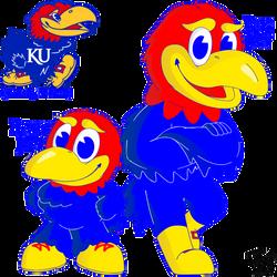 KU Big Jay & Baby Jay - University of Kansas Jayhawk Mascots (Hal Sandy, 1946/2005)