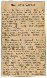 Garner, Ida Carrie Tubbs