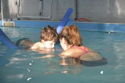 Sid swimming