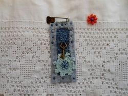 Blue soft fabric